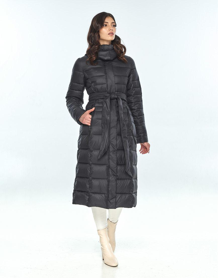 Куртка большого размера длинная женская Vivacana чёрная 8140/21 фото 2
