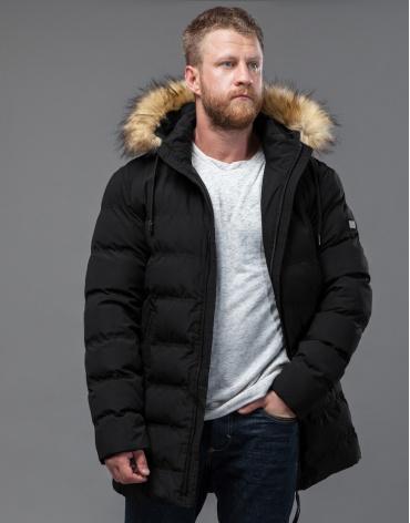 Мужская черная куртка фирменная модель 74560