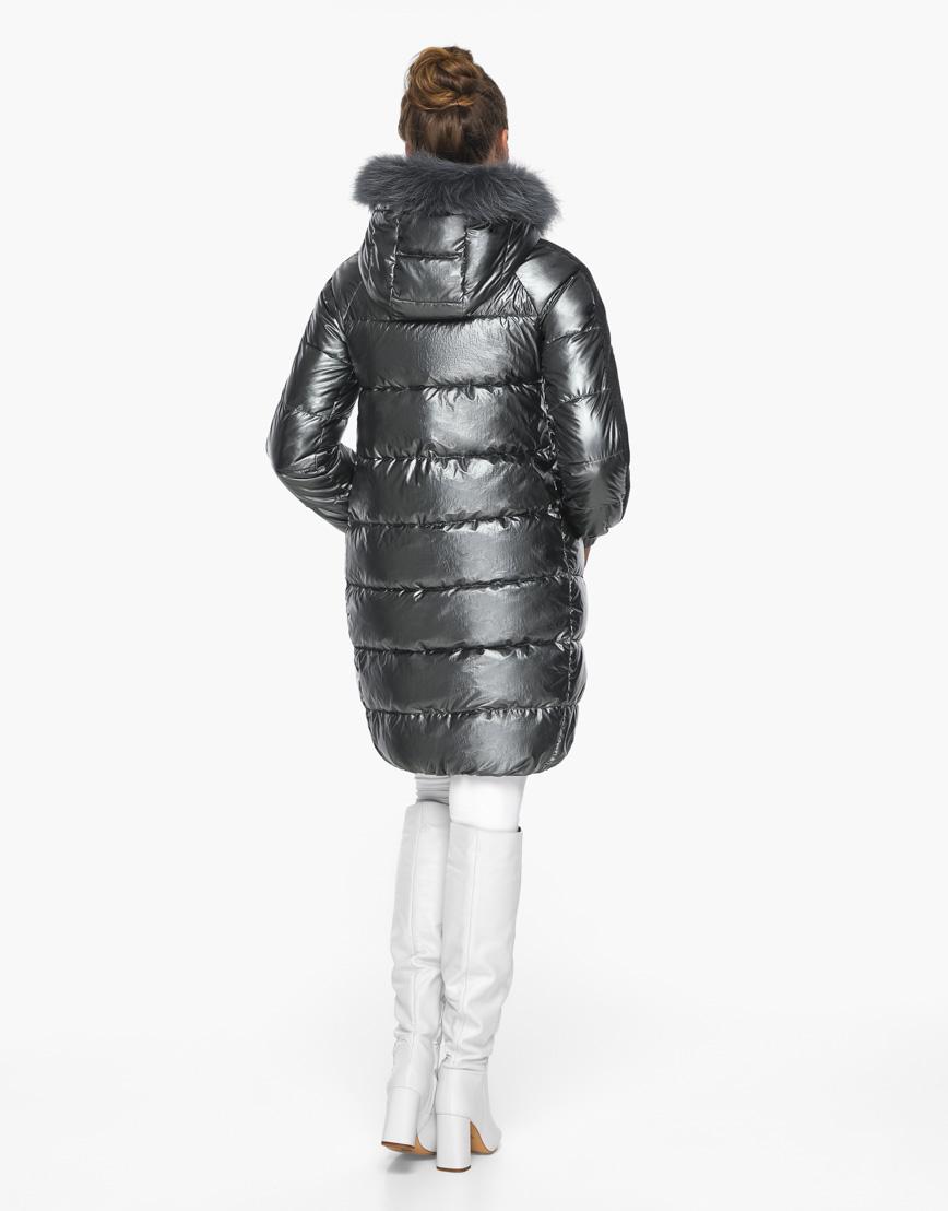 Трендовый воздуховик женский Braggart цвет темное серебро модель 42150 фото 6