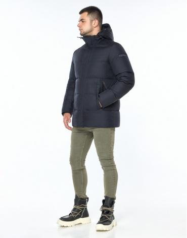 Куртка фирменная темно-синего цвета модель 43250