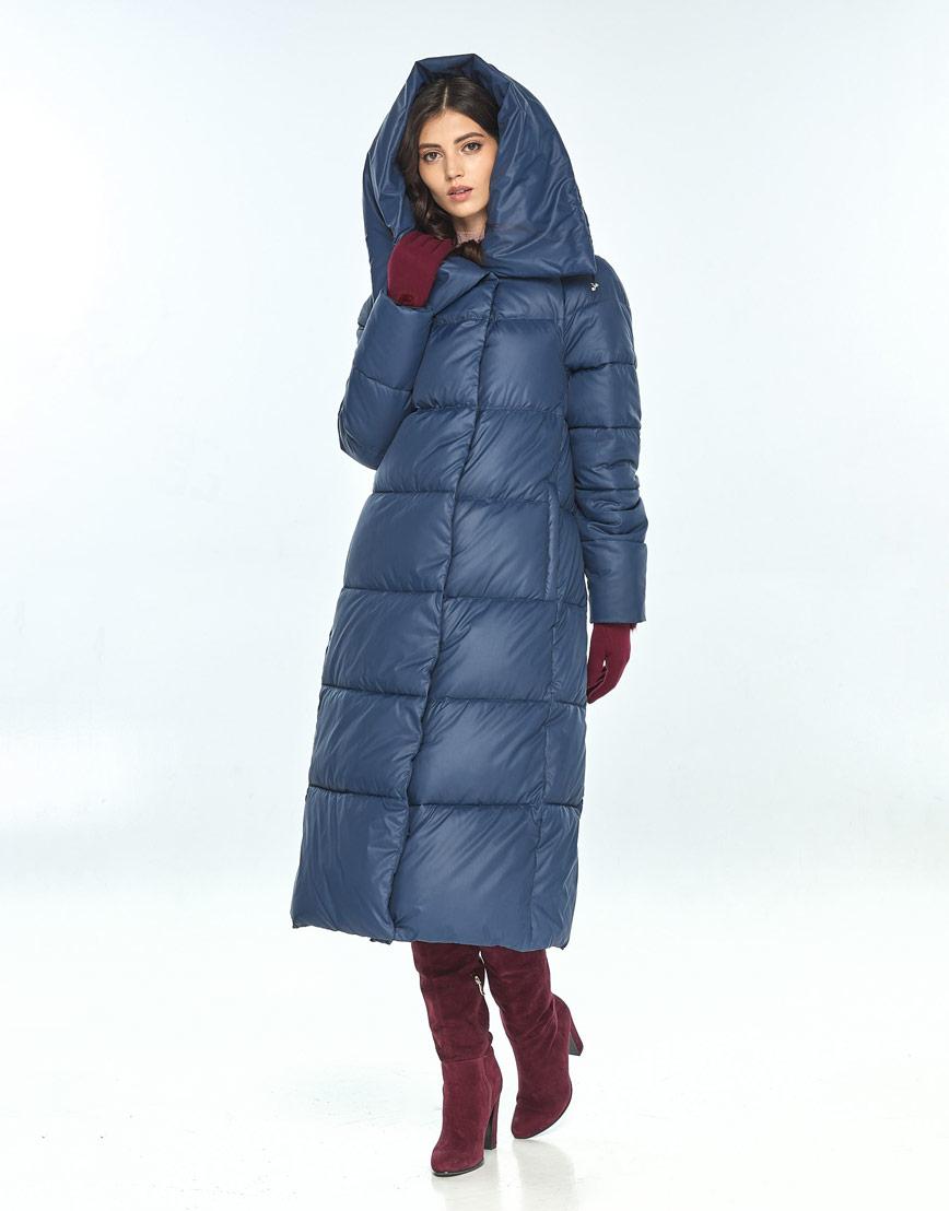 Куртка зимняя синего цвета женская Vivacana 9150/21 фото 1