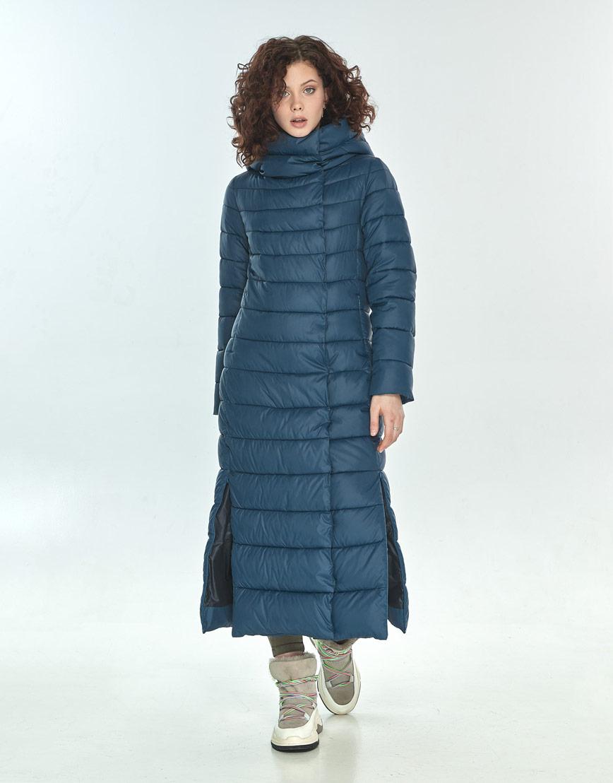 Синяя куртка женская Moc длинная M6210 фото 2