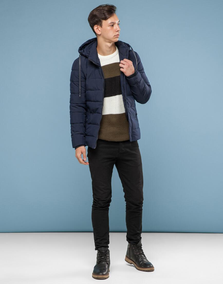 Синяя куртка с прочной фурнитурой модель 6015 фото 2