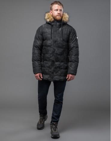Куртка дизайнерская черная модного пошива модель 51480 оптом