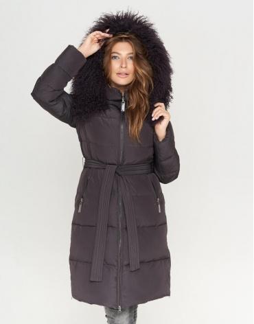 Графитовая женская куртка модная модель 085