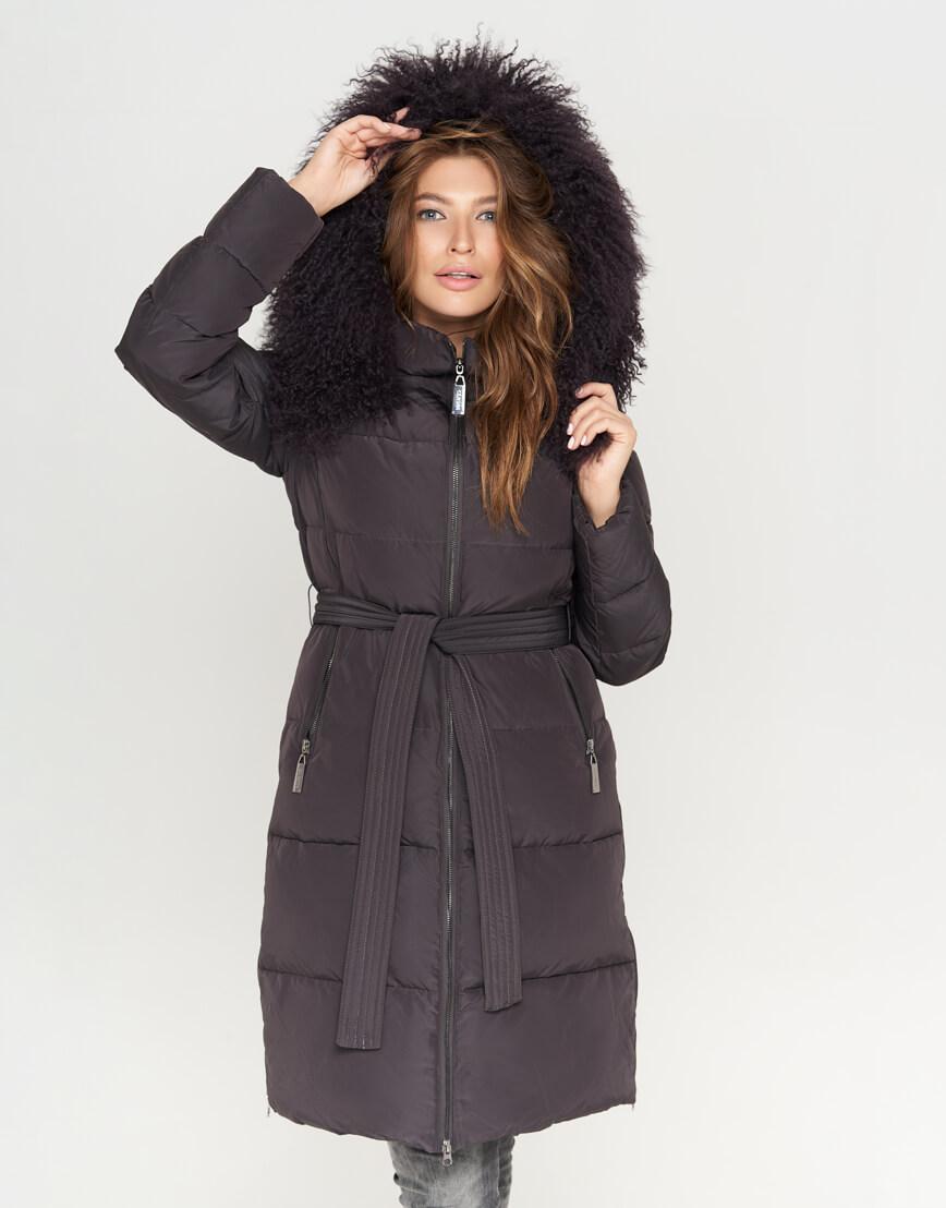 Графитовая женская куртка модная модель 085 фото 1