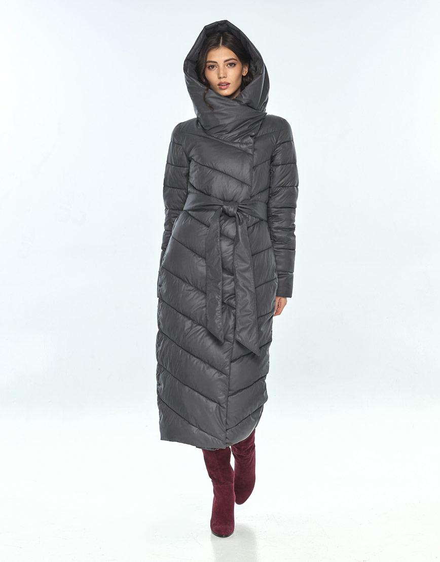 Зимняя женская серая куртка большого размера Vivacana 9405/21 фото 1