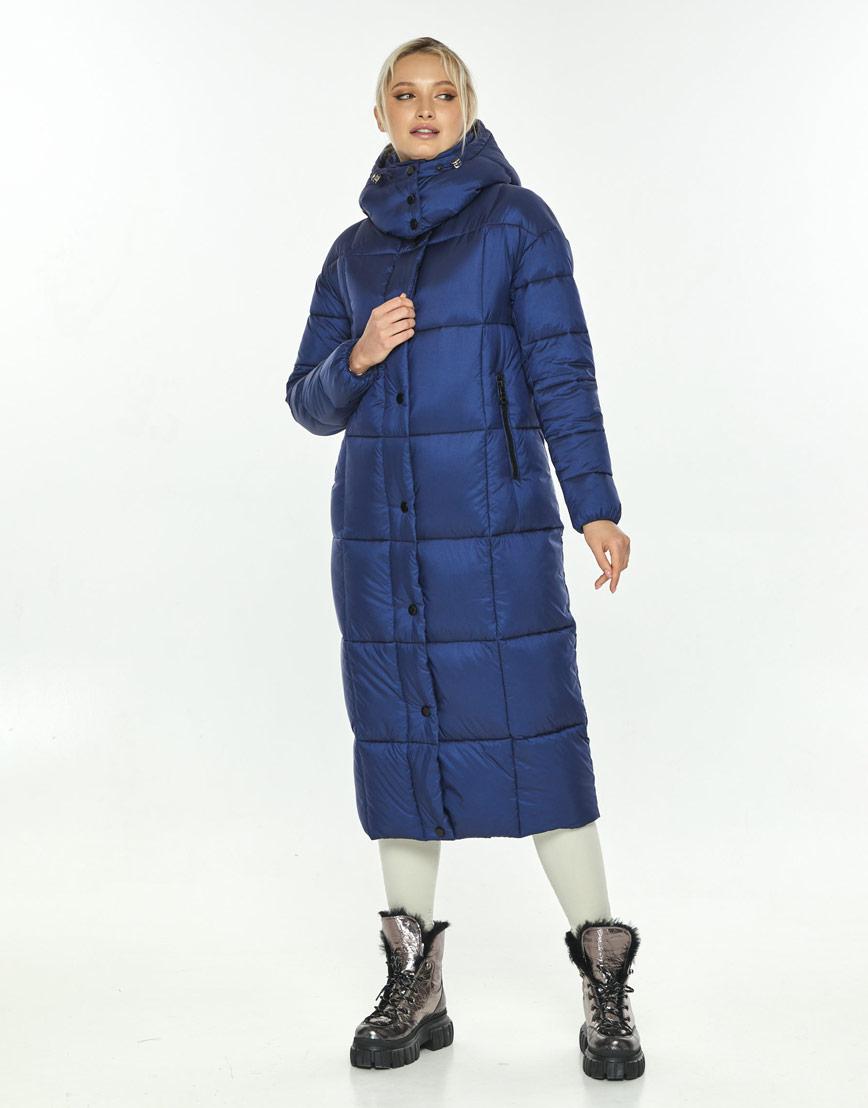 Модная синяя куртка зимняя женская Kiro Tokao 60052 фото 1