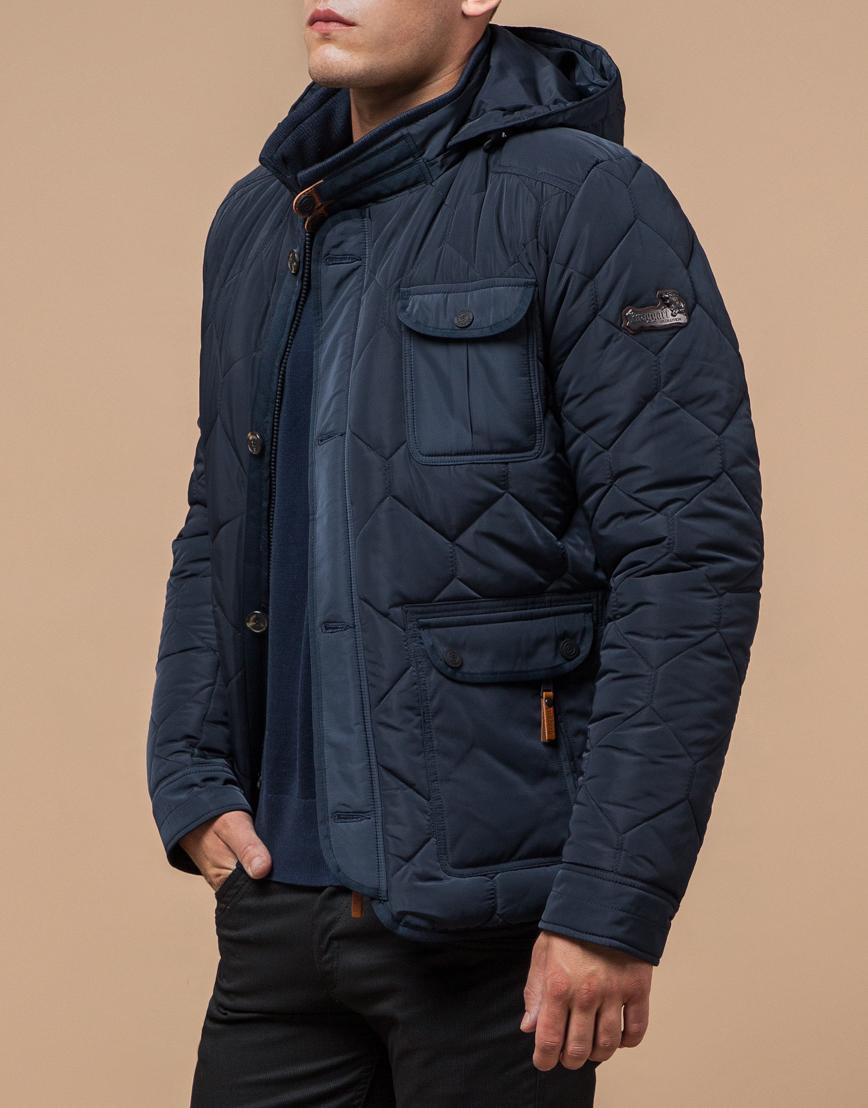 Куртка на меху светло-синяя модель 2703 фото 2