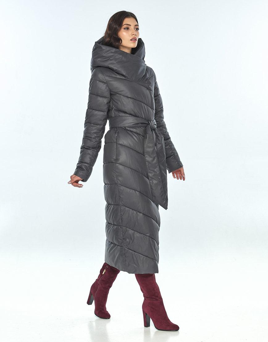 Зимняя женская серая куртка Vivacana комфортная 9405/21 фото 2