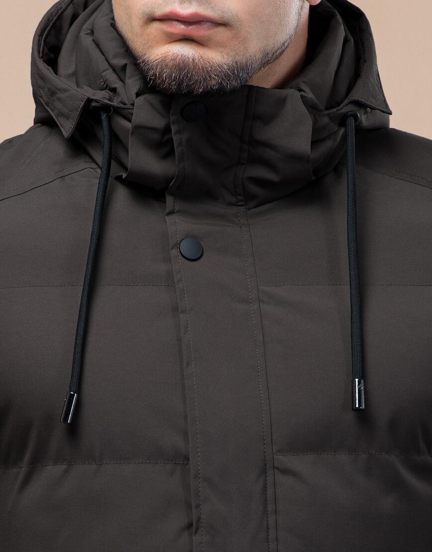 Куртка стандартной длины зимняя цвета кофе модель 25280 фото 5