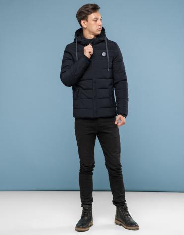 Куртка черного цвета подростковая трендовая модель 6015-1 фото 1