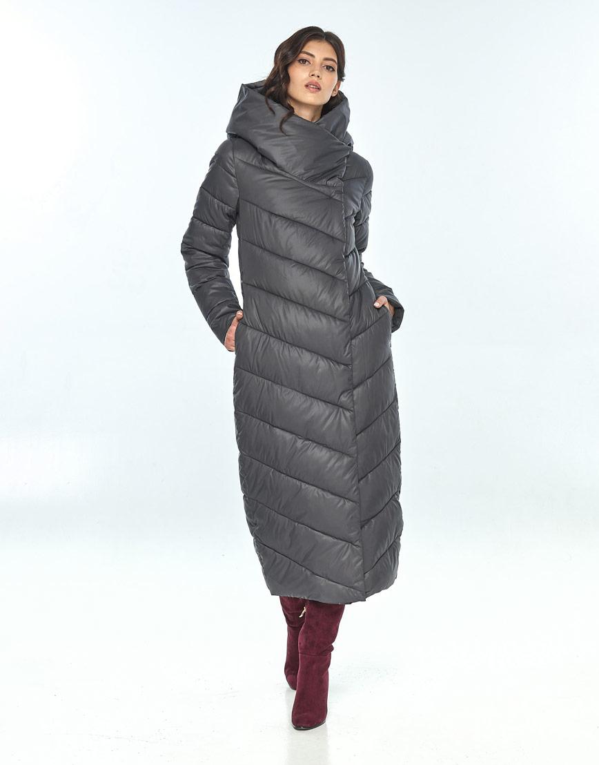 Зимняя женская серая куртка Vivacana комфортная 9405/21 фото 1