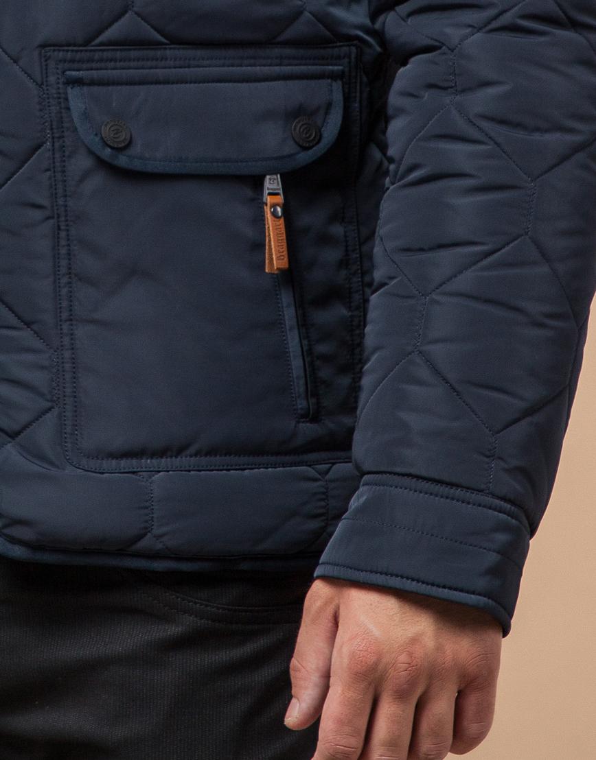 Куртка на меху светло-синяя модель 2703 фото 6