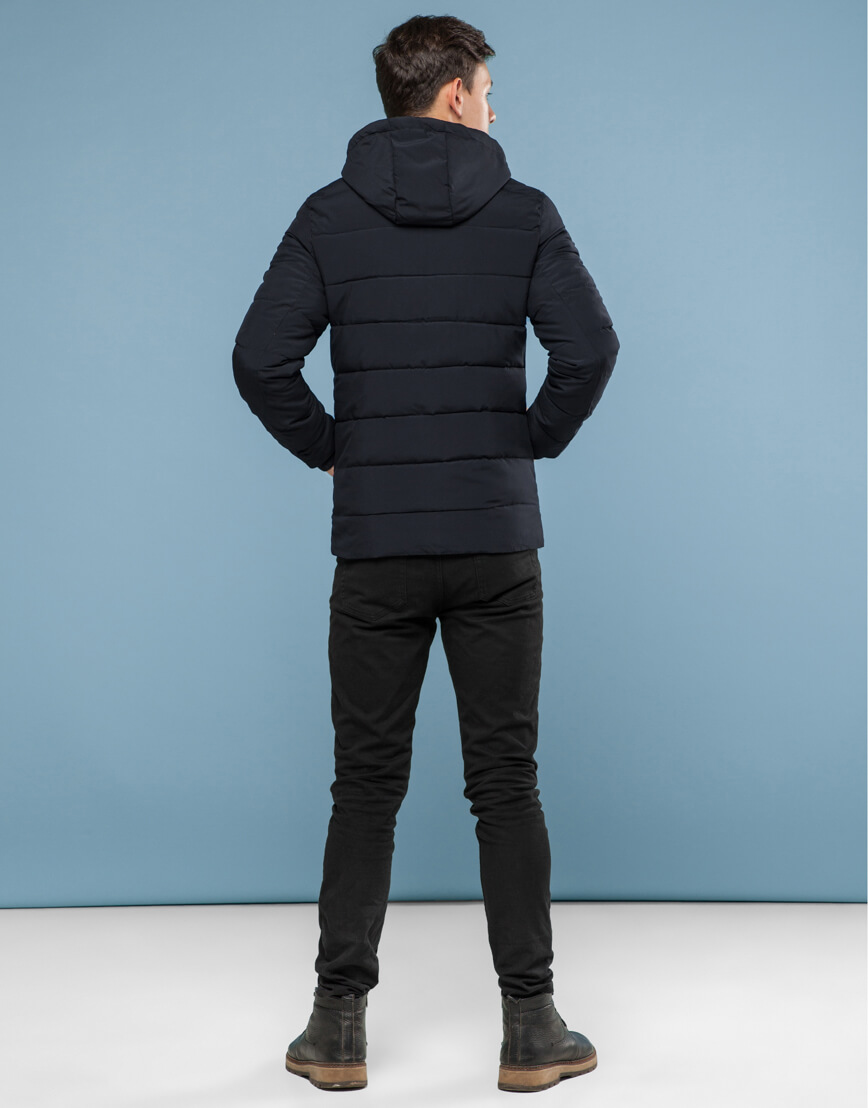 Куртка черного цвета подростковая трендовая модель 6015 фото 4