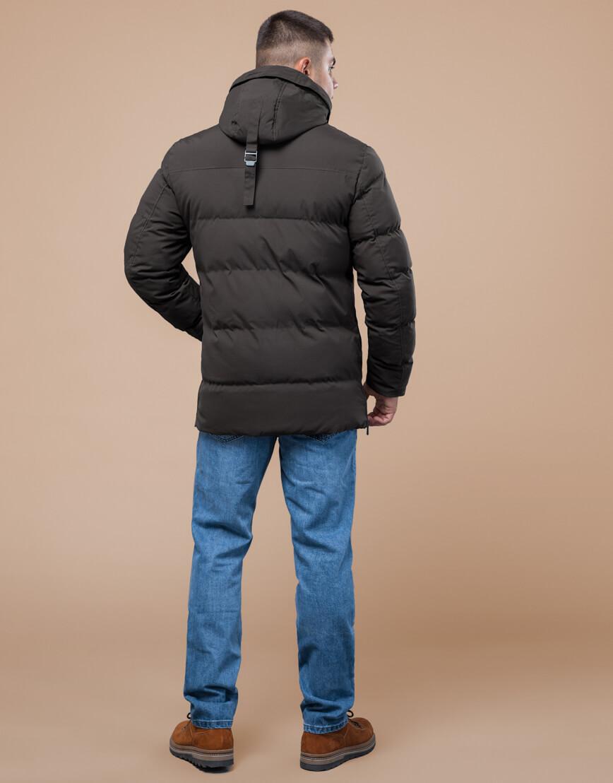 Куртка стандартной длины зимняя цвета кофе модель 25280 фото 4