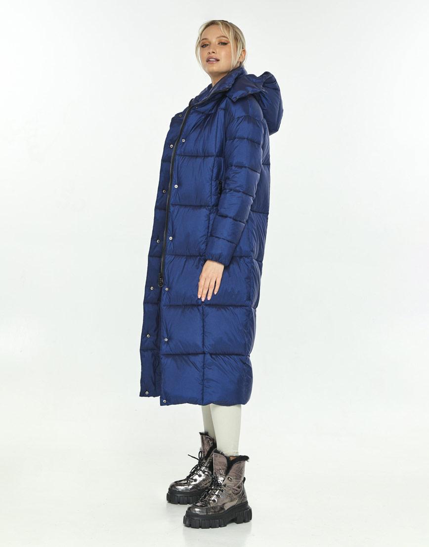 Модная синяя куртка зимняя женская Kiro Tokao 60052 фото 2