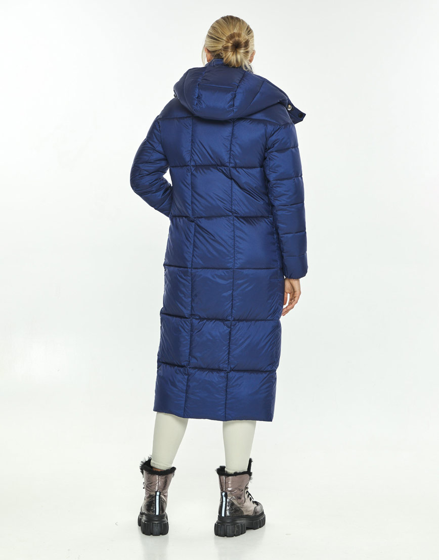 Модная синяя куртка зимняя женская Kiro Tokao 60052 фото 3