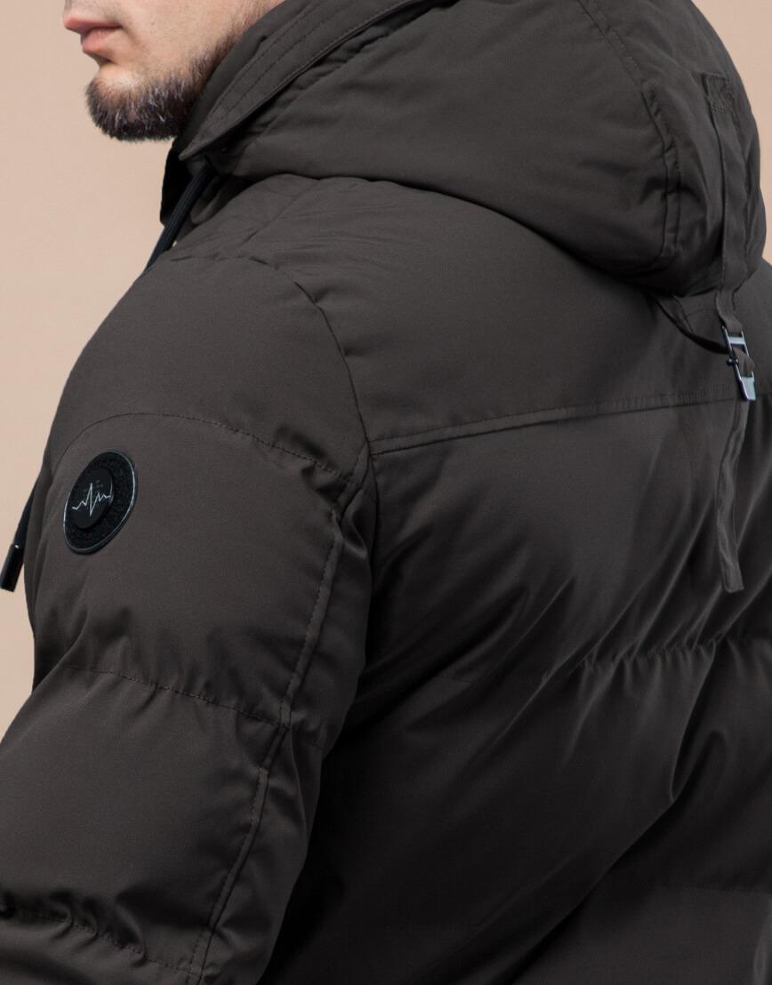 Куртка стандартной длины зимняя цвета кофе модель 25280 фото 7