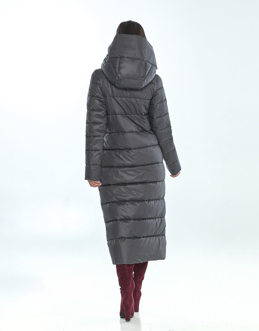 Зимняя женская серая куртка Vivacana комфортная 9405/21 фото 3