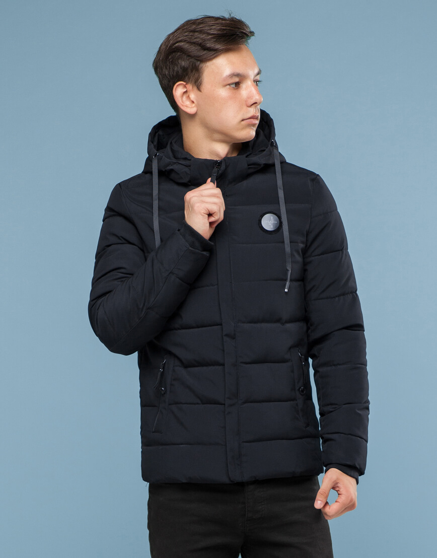Куртка черного цвета подростковая трендовая модель 6015 фото 3