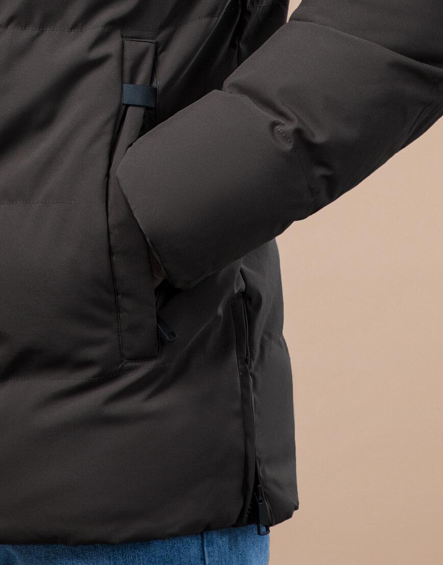 Куртка стандартной длины зимняя цвета кофе модель 25280 фото 6