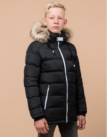 Куртка детская графитового цвета стильная модель 68255