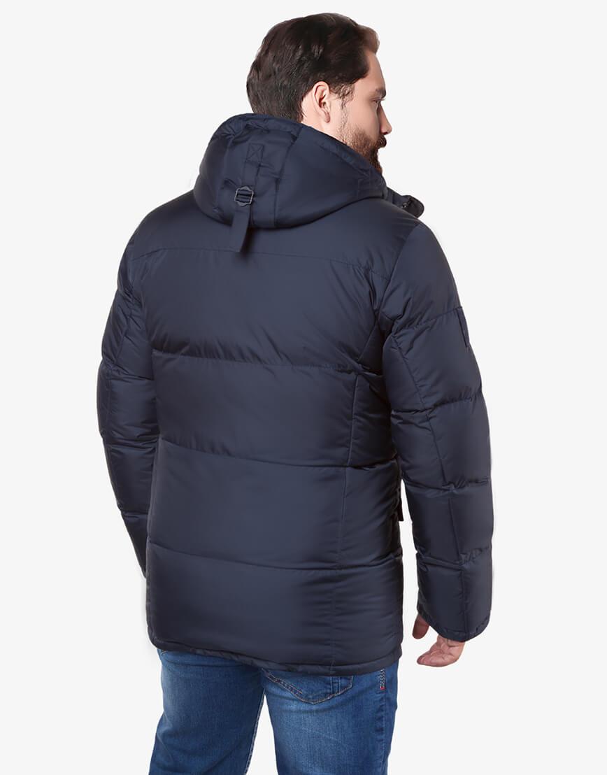 Темно-синяя куртка большого размера практичная модель 3284 фото 3
