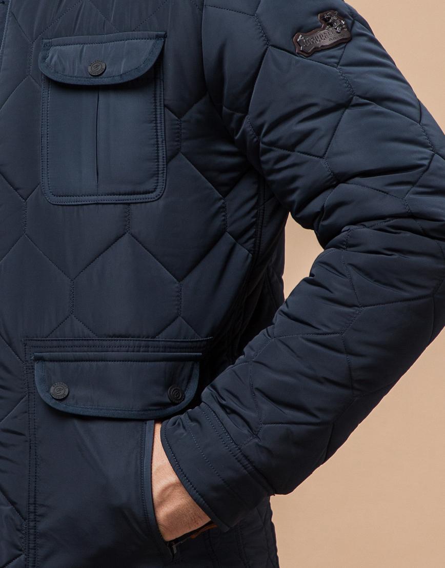 Куртка на меху светло-синяя модель 2703 фото 5
