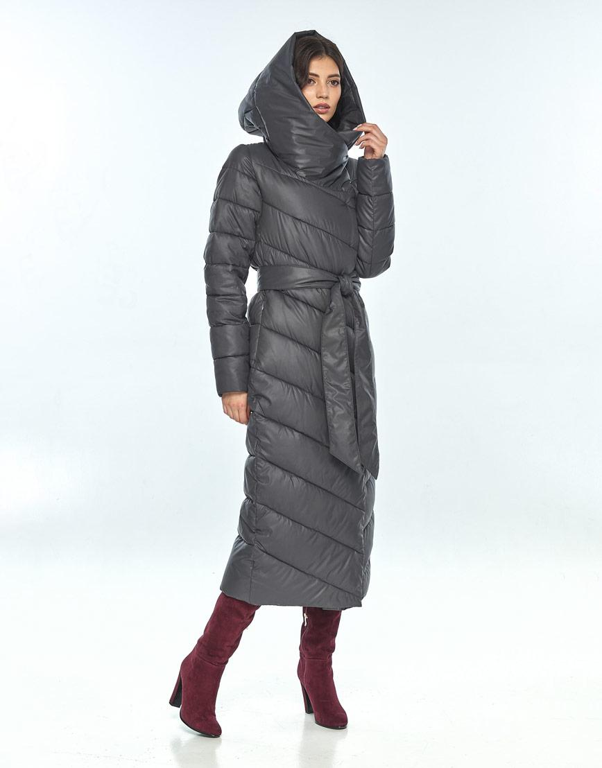 Зимняя женская серая куртка большого размера Vivacana 9405/21 фото 2