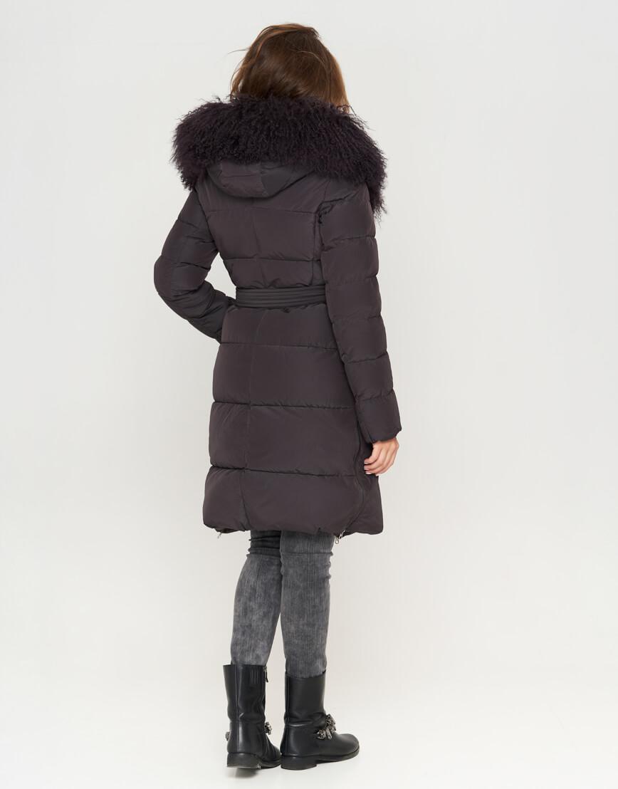 Графитовая женская куртка модная модель 085 фото 3