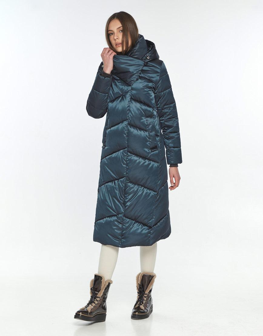 Модная зимняя куртка зелёная женская Wild Club 514-35 фото 2