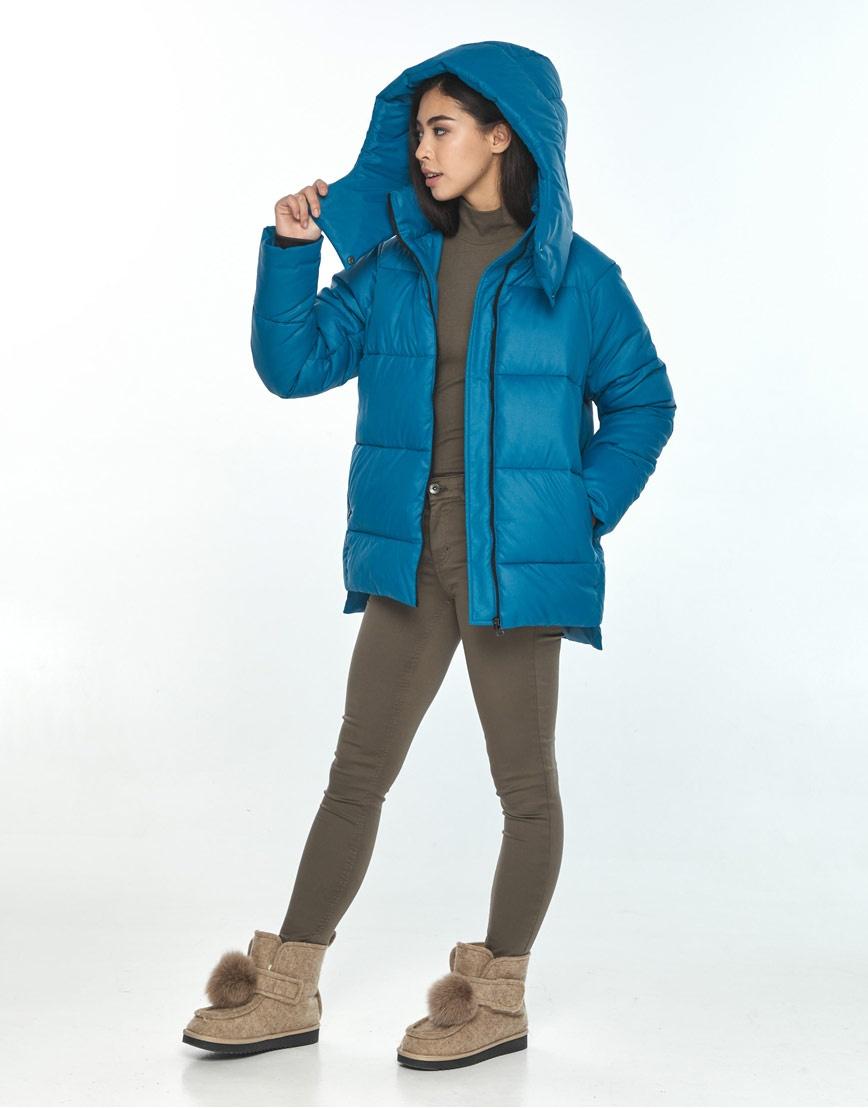 Короткая куртка Moc аквамариновая женская M6212 фото 2