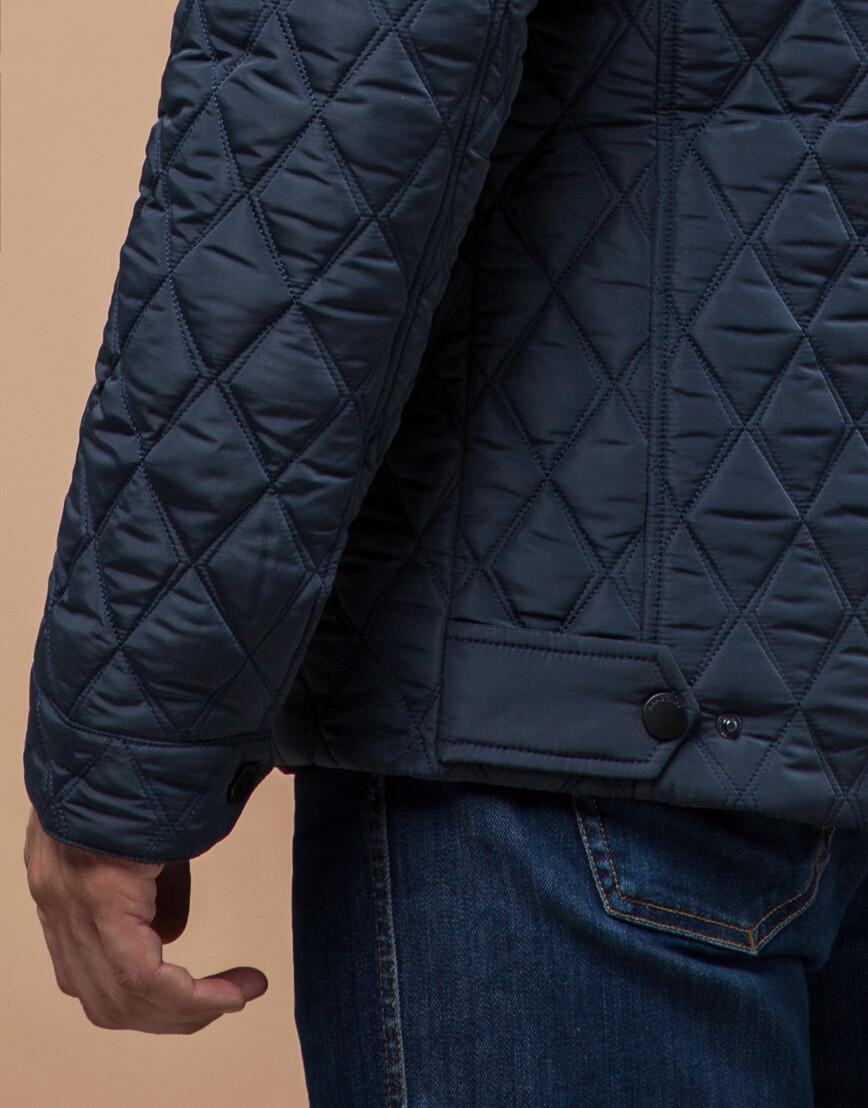 Куртка светло-синяя на зиму мужская модель 1698 оптом фото 5