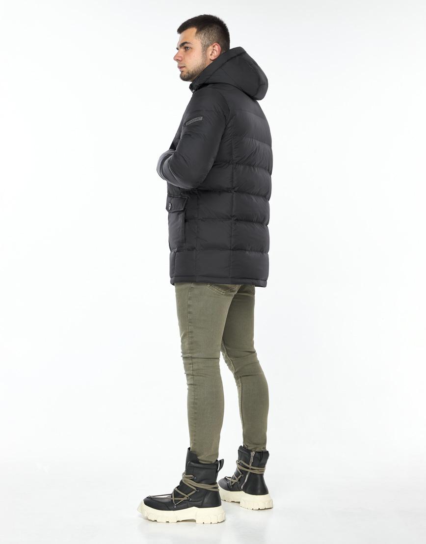 Куртка модная графитового цвета модель 24750 фото 4