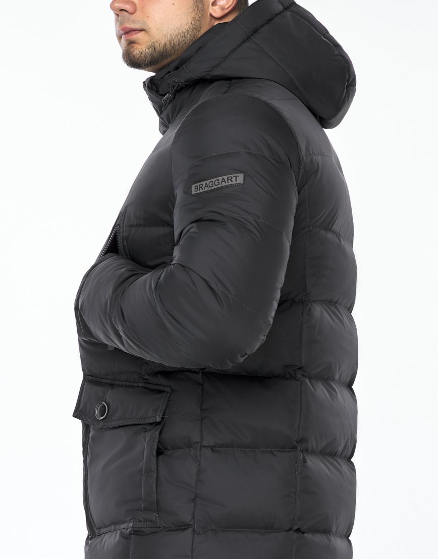 Куртка модная графитового цвета модель 24750 фото 6