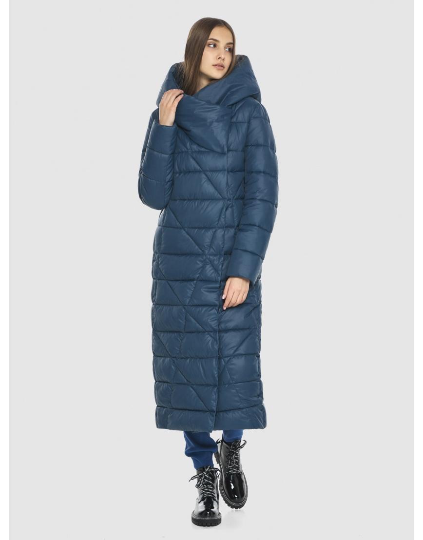 Синяя длинная женская куртка Vivacana 9470/21 фото 1
