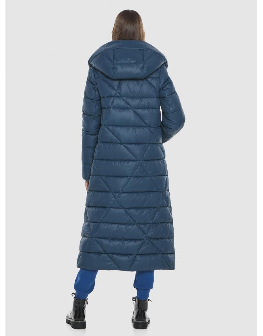 Синяя длинная женская куртка Vivacana 9470/21 фото 4