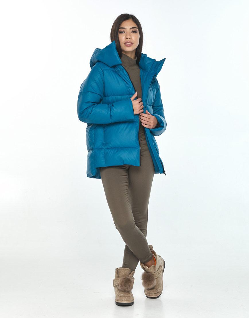 Короткая куртка Moc аквамариновая женская M6212 фото 1
