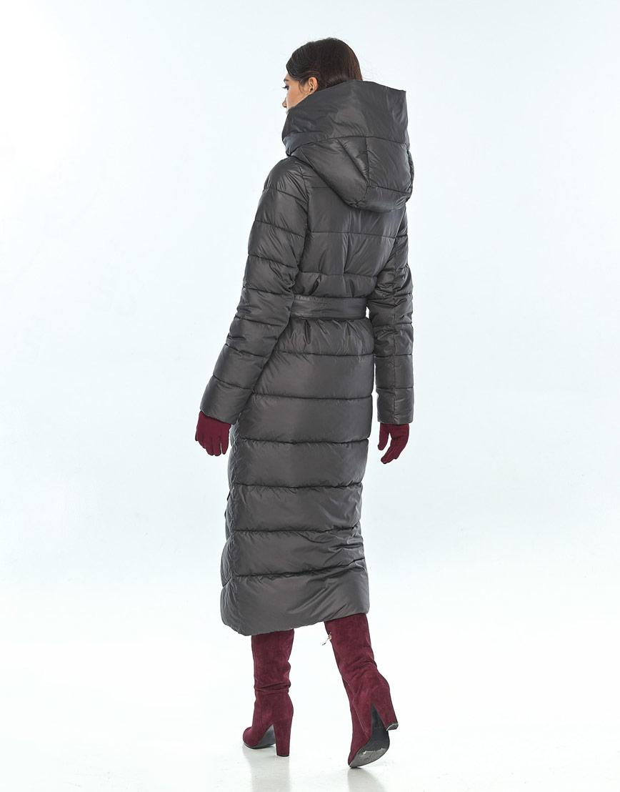 Практичная куртка серая женская Vivacana на зиму 9405/21 фото 3