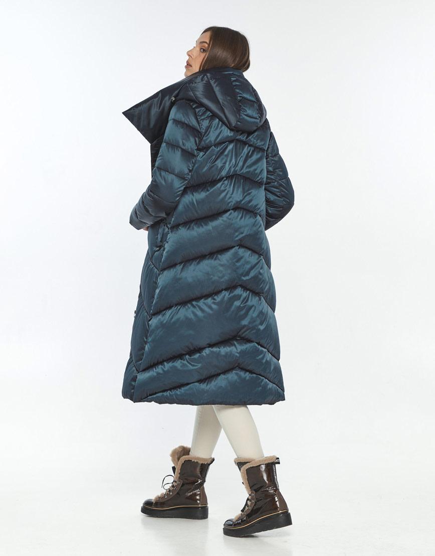 Модная зимняя куртка зелёная женская Wild Club 514-35 фото 3