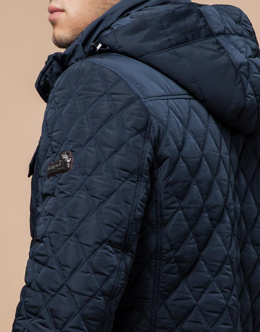 Куртка светло-синяя на зиму мужская модель 1698 оптом фото 6