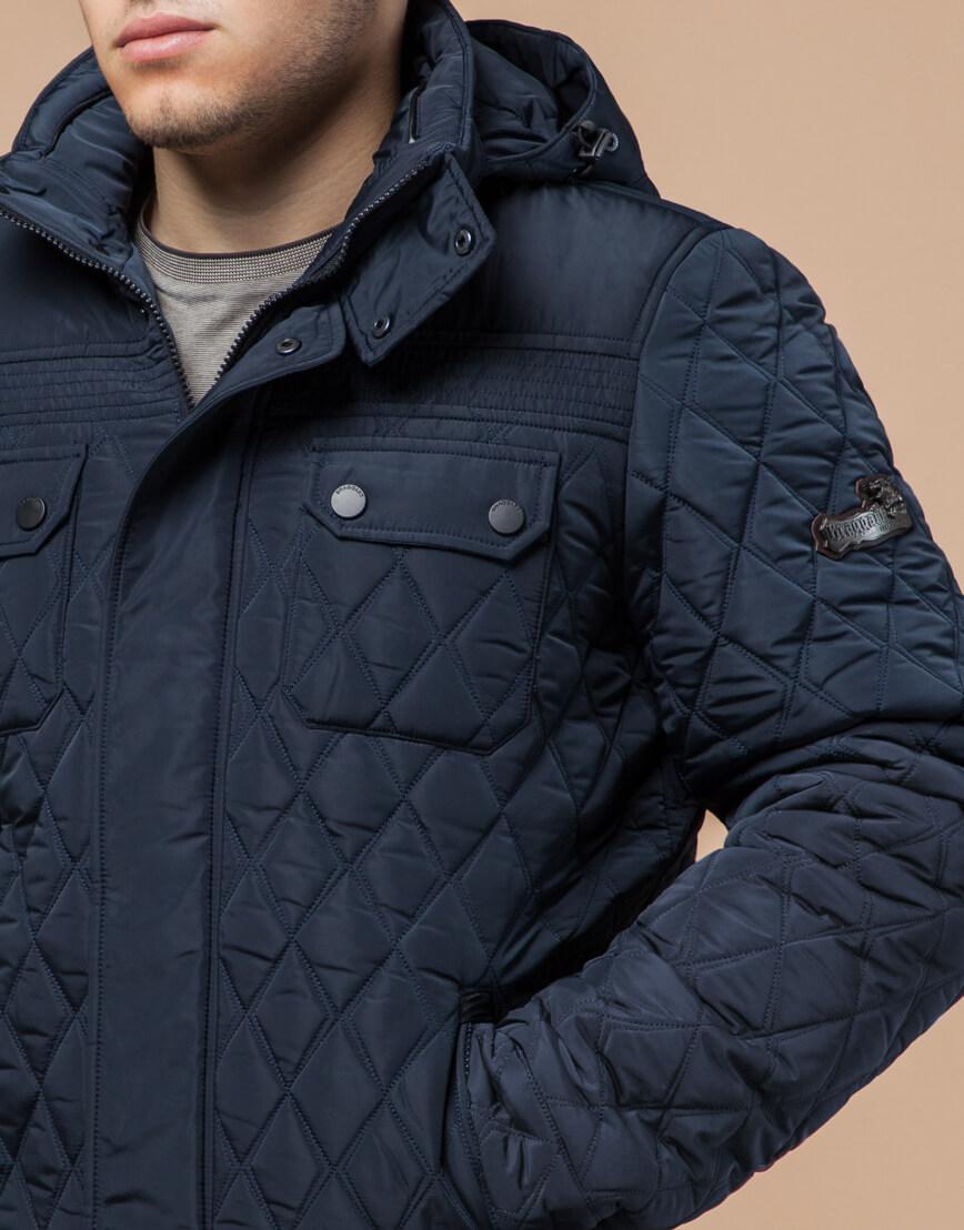 Куртка светло-синяя на зиму мужская модель 1698 оптом фото 4
