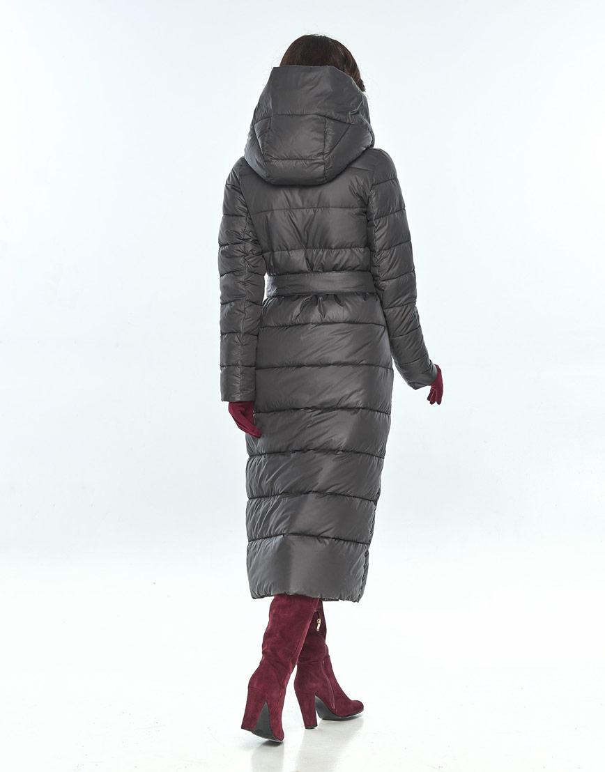 Практичная куртка большого размера Vivacana серая женская на зиму 9405/21 фото 3