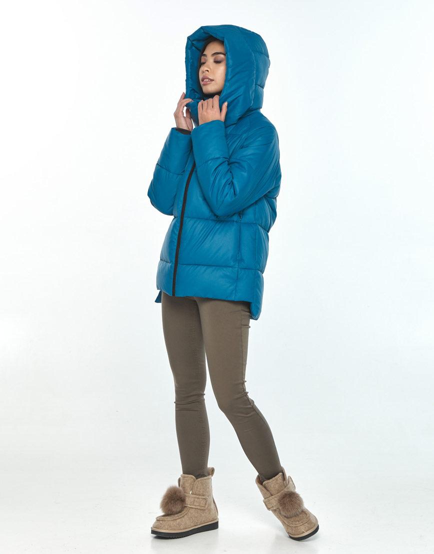 Короткая куртка Moc аквамариновая женская M6212 фото 3