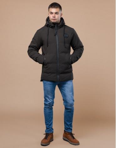 Брендовая куртка подростковая цвета кофе модель 25440 оптом
