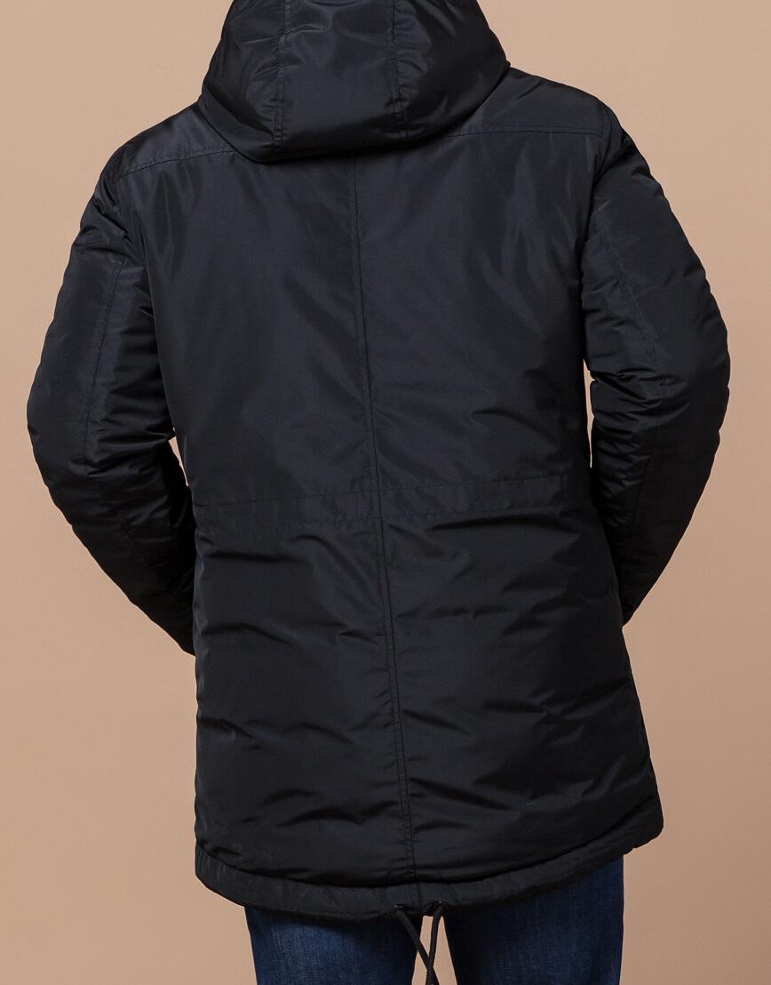 Зимняя мужская парка черного цвета модель 49720 оптом