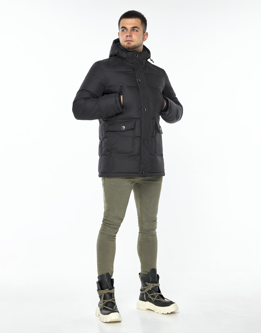 Куртка модная графитового цвета модель 24750 фото 3
