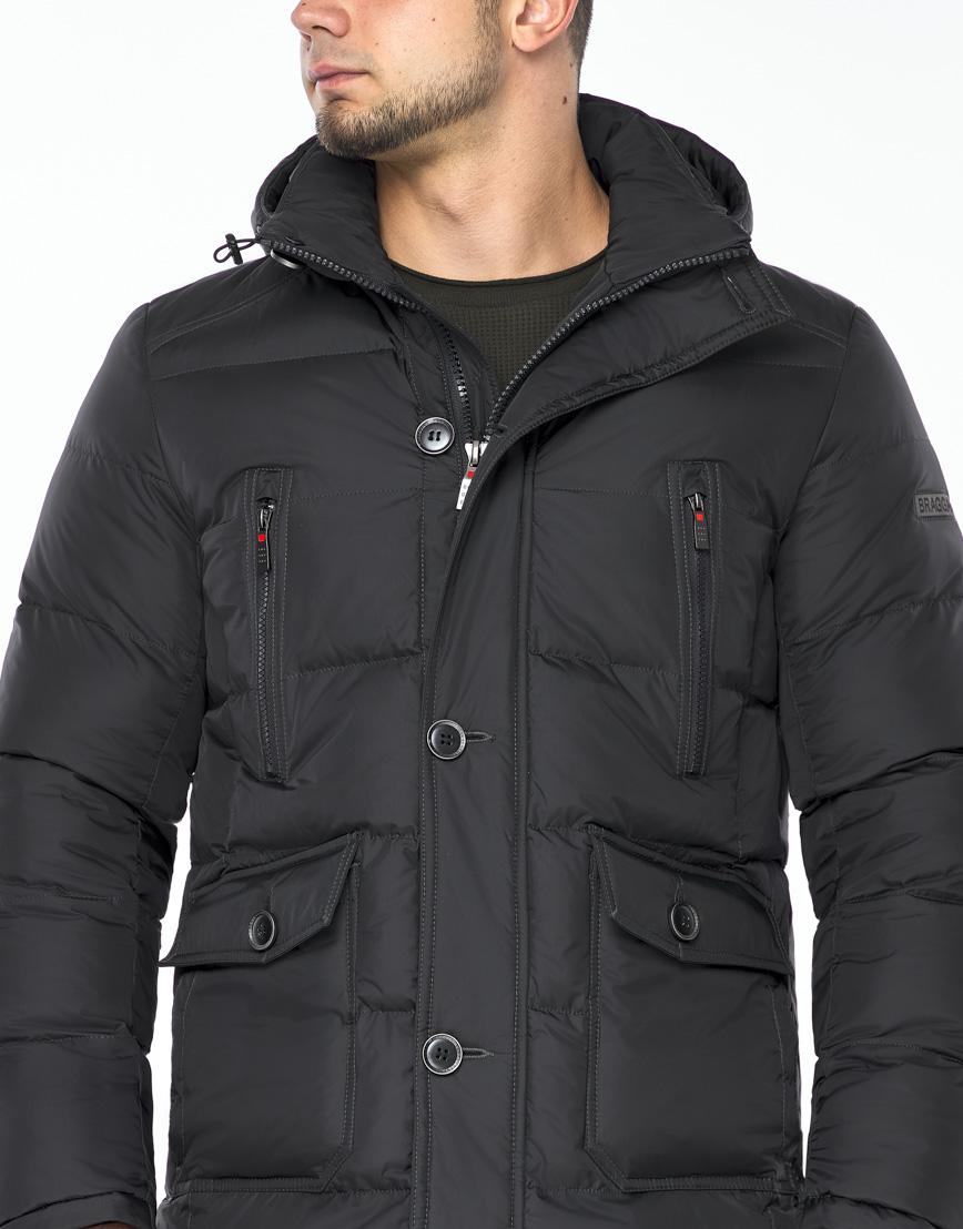Куртка модная графитового цвета модель 24750 фото 5