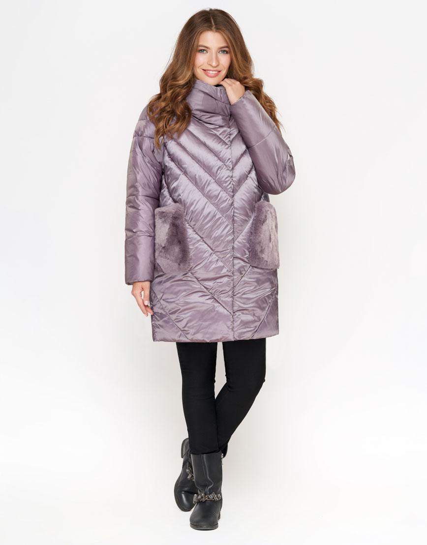 Сиреневая модная женская куртка модель 1893